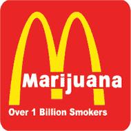 T-Shirt Marijuana parodie Mc Donald's